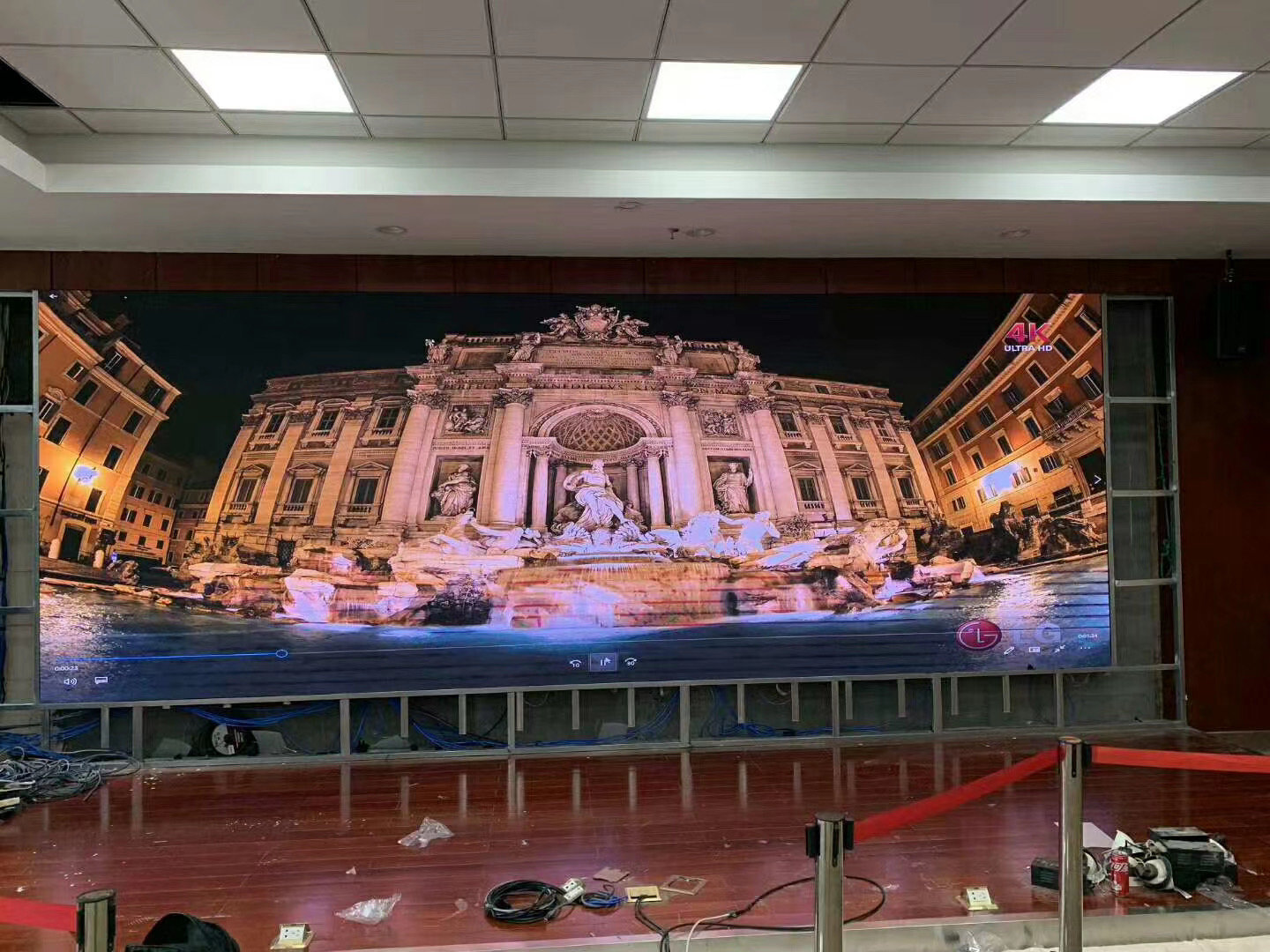 GKGD Indoor P2 Led Screen Project In One Company's Conference Room.